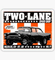 Two-Lane Speed Shop Sticker