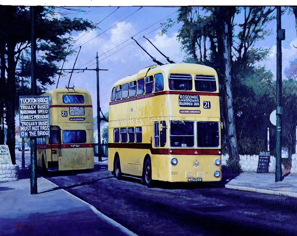 Bournemouth trolleybuses by Mike Jeffries