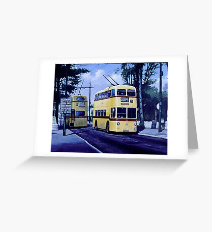 Bournemouth trolleybuses Greeting Card