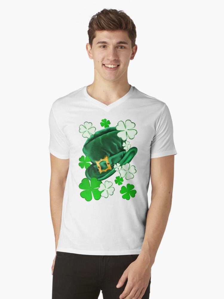 Irish Hat and Shamrocks  by Lotacats