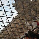 Through Triangular Glass II - Louvre by Danielle Ducrest