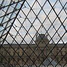 Through Triangular Glass V - Louvre by Danielle Ducrest