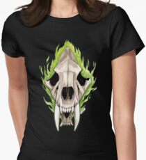 Flaming Skulls - Sabre Toothed Tiger T-Shirt