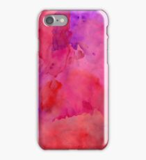 Pretty Pink, Purple, and Red Watercolor Paint  iPhone Case/Skin