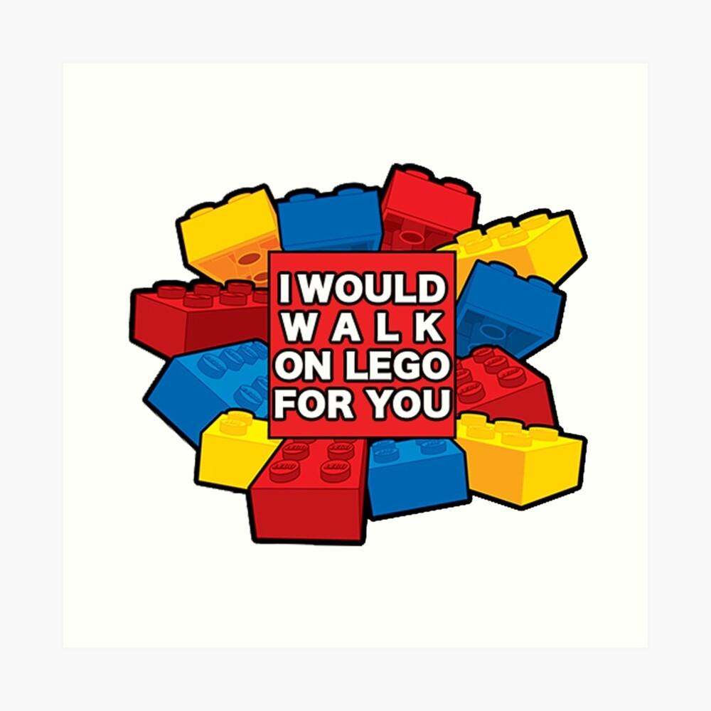 Ich würde auf Lego für dich gehen Kunstdruck