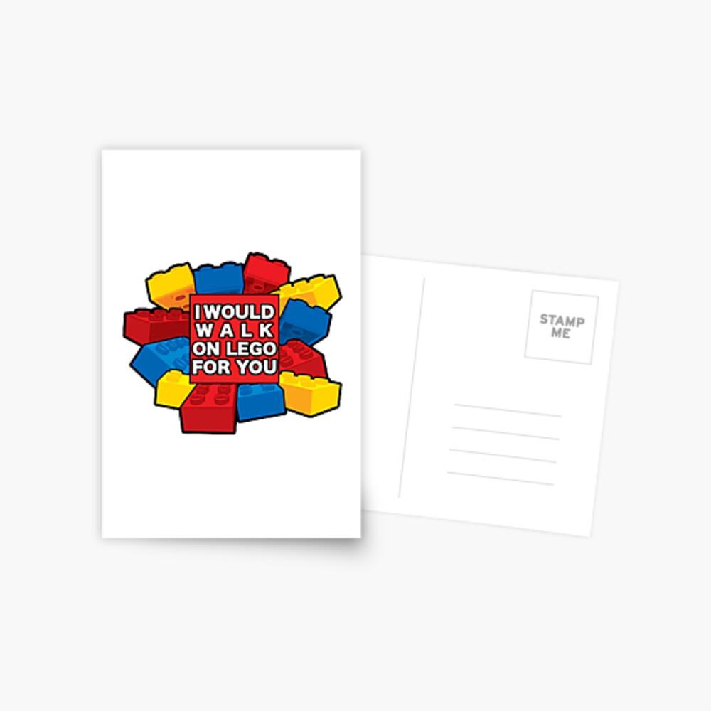 Yo caminaría en Lego por ti Postal