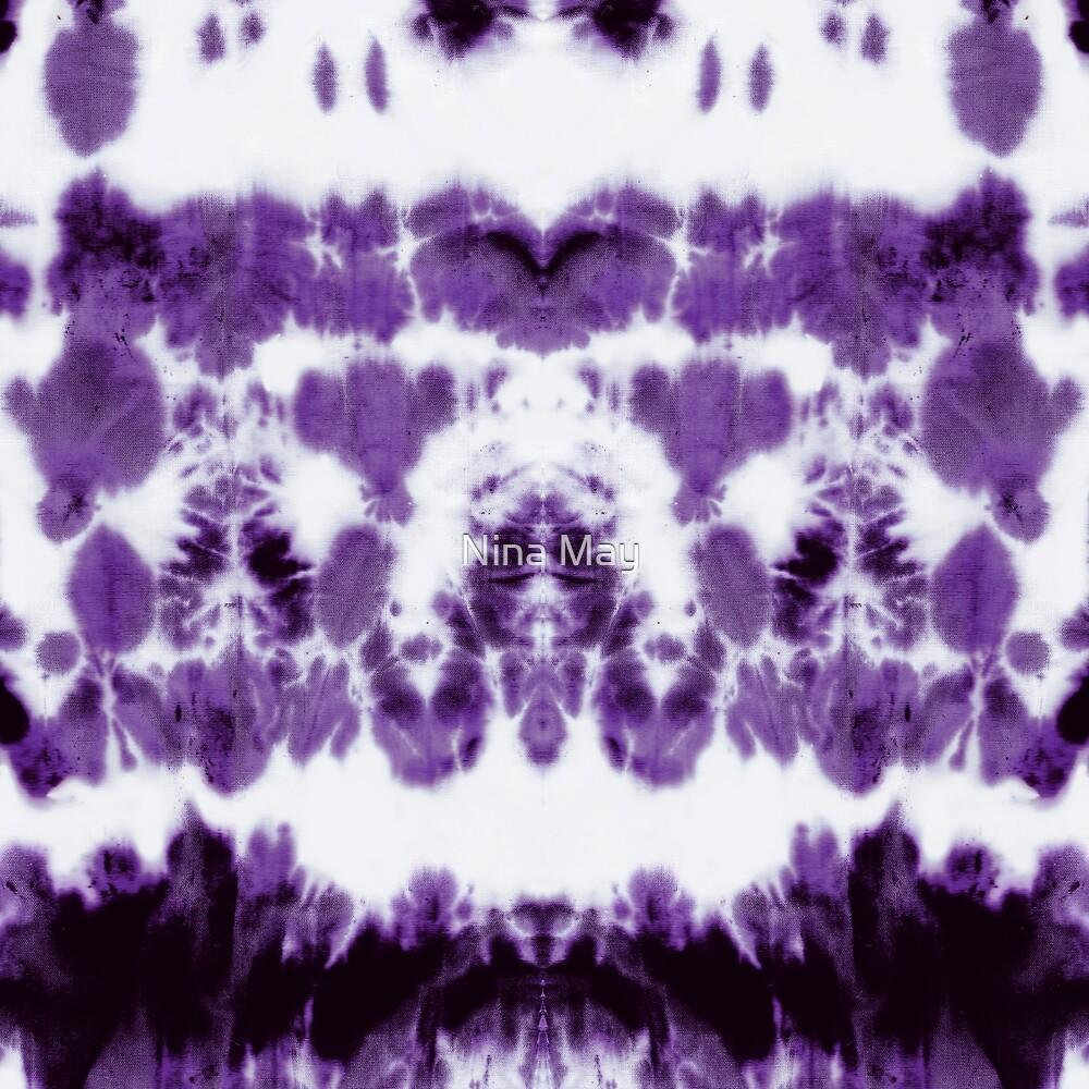 Boho Purple Shibori by Nina May