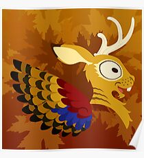 Silly beasty: Wolpertinger Poster