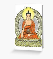 buddha color Greeting Card