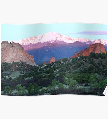 A Pikes Peak Sunrise Poster