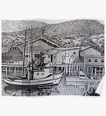 Monterey Wharf Poster