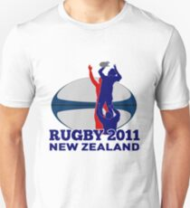 rugby player line out ball new zealand 2011 Unisex T-Shirt
