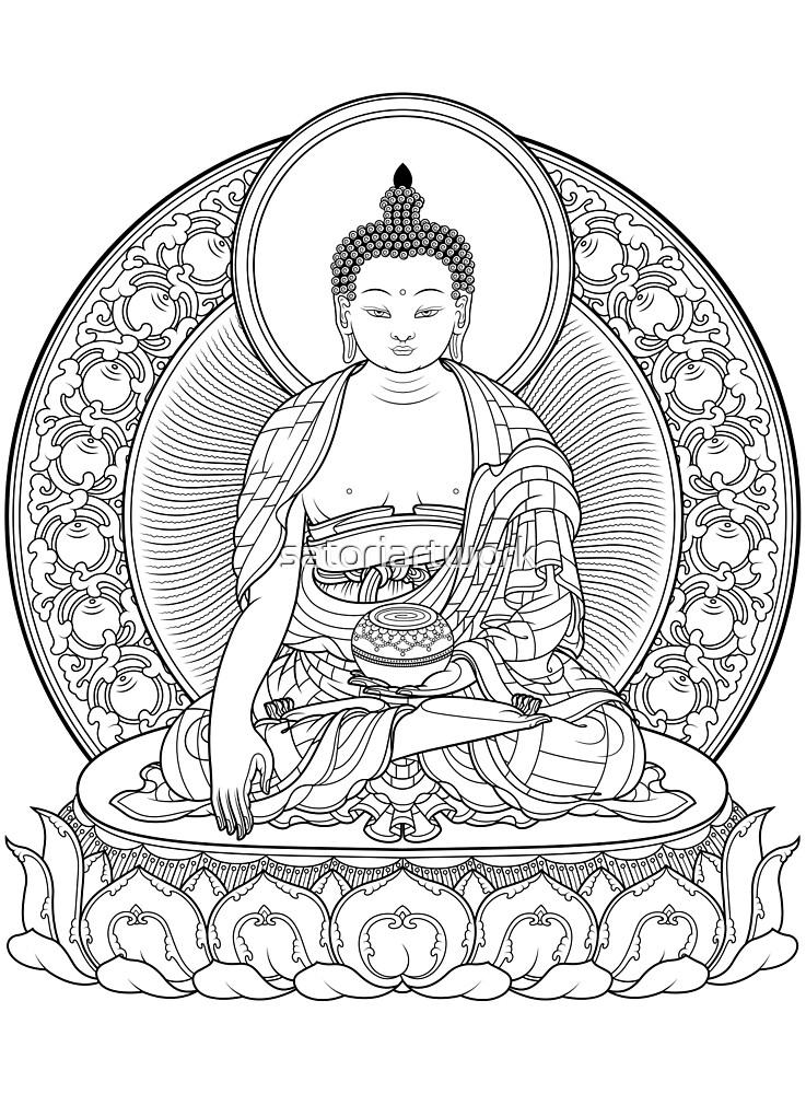 buddha outline by satoriartwork