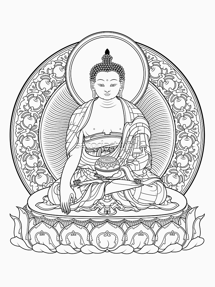 buddha outline by satoriartwork