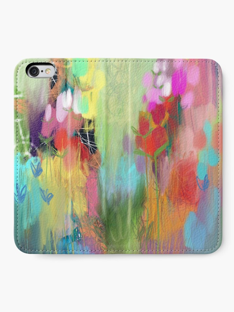 Alternate view of Red Flower Candy Meadow iPhone Wallet