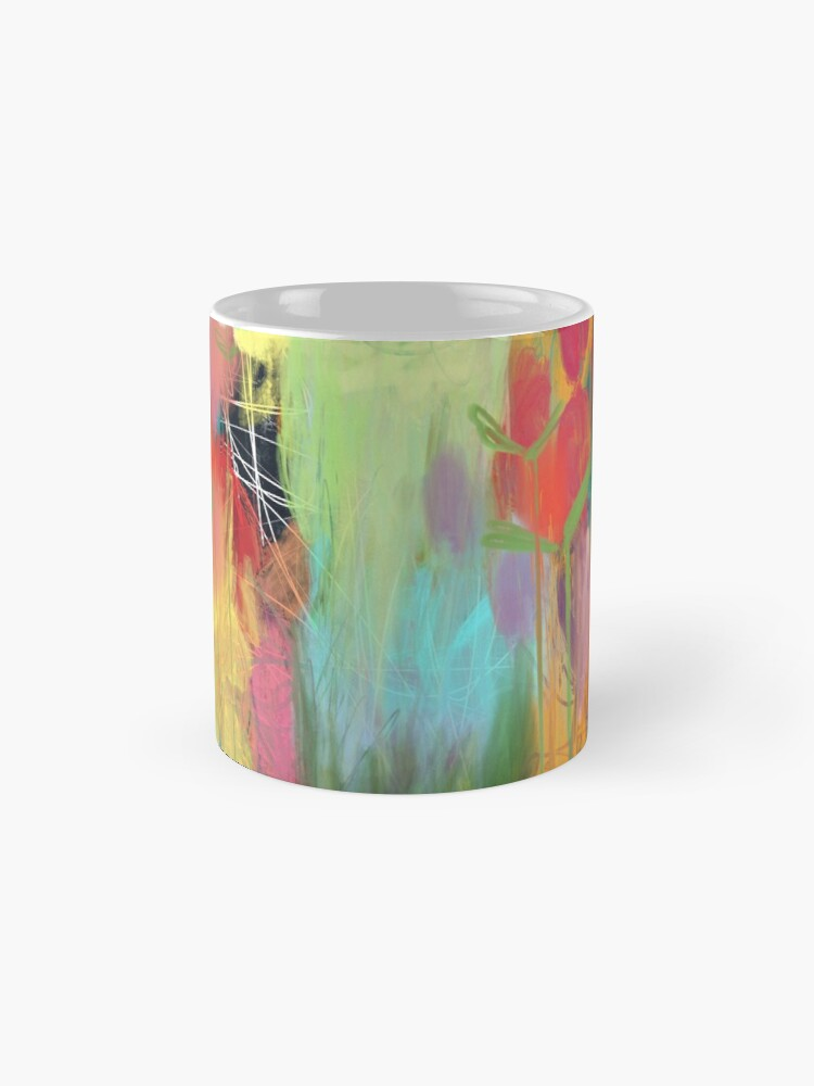 Alternate view of Red Flower Candy Meadow Mug