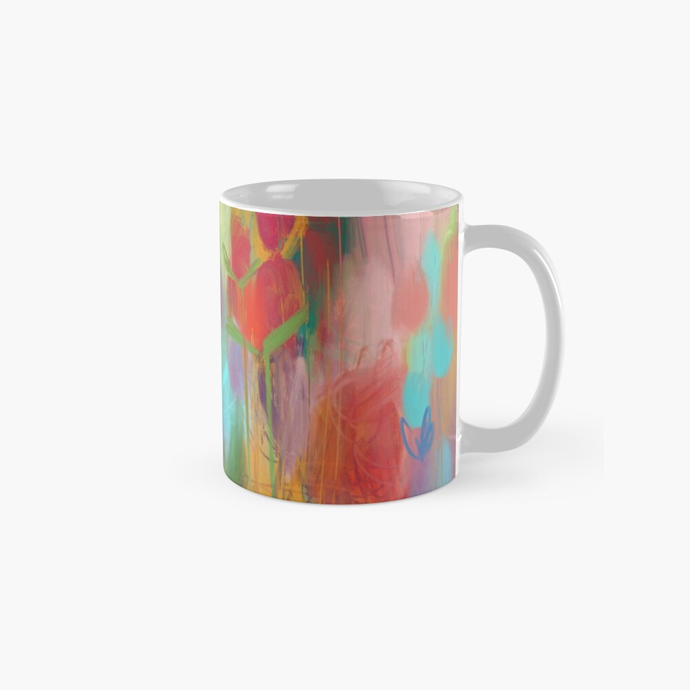 Red Flower Candy Meadow Mug