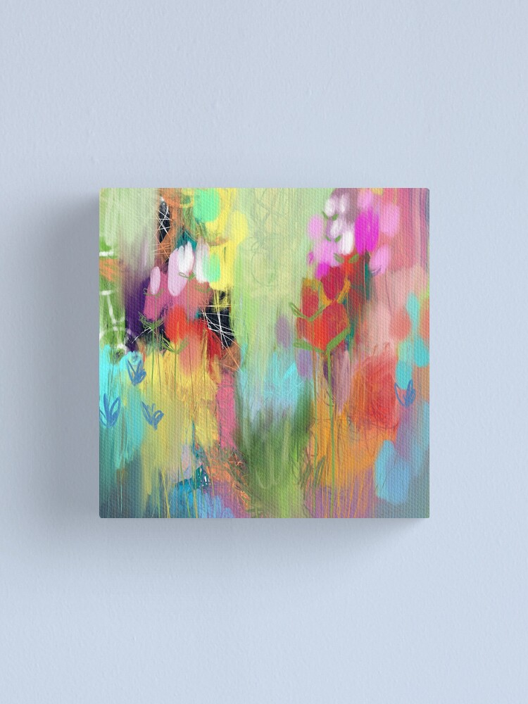 Alternate view of Red Flower Candy Meadow Canvas Print