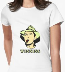 Charlie Sheen Winning Shirt Women's Fitted T-Shirt