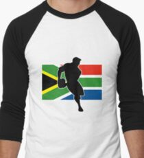 rugby player passing ball south africa flag T-Shirt