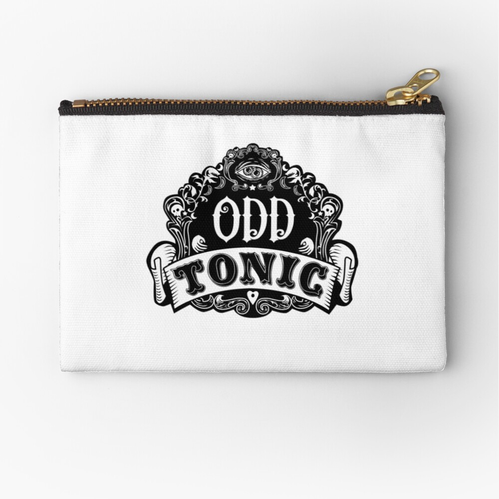 Odd Tonic Official Logo NON-BLACK Merch Zipper Pouch