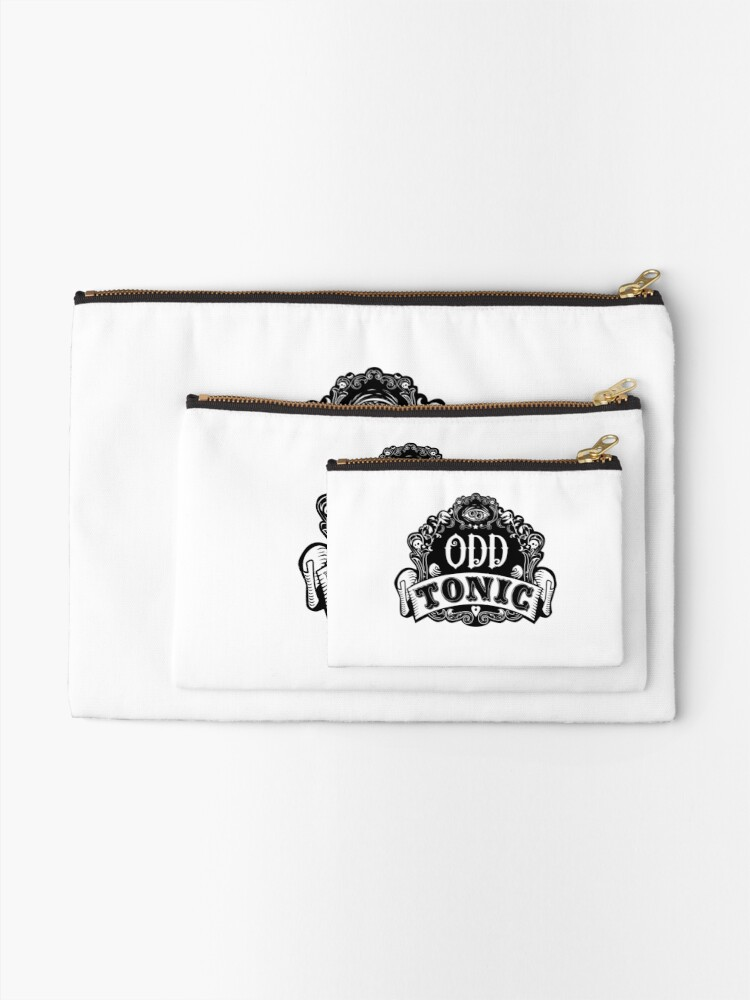 Alternate view of Odd Tonic Official Logo NON-BLACK Merch Zipper Pouch