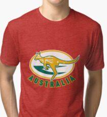 Rugby Wallabies Kangaroo Australia Tri-blend T-Shirt