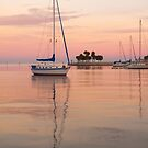 """Peaceful Harbor"" - sailboats anchored in harbor by ArtThatSmiles"