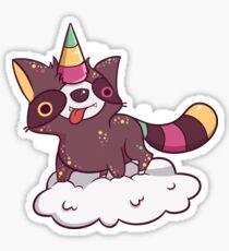 Raccoonycorn! Glossy Sticker
