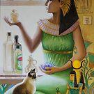 Lady of Bertolli, mixed media, 2011. by fiona vermeeren