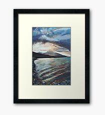 Bronze Waves Framed Print
