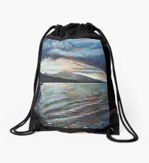 Bronze Waves Drawstring Bag