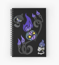 Flames of the Forgotten - Chandelure, Lampent and Litwick Spiral Notebook
