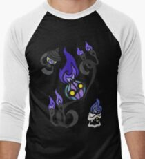 Flames of the Forgotten - Chandelure, Lampent and Litwick Baseball ¾ Sleeve T-Shirt