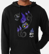 Flames of the Forgotten - Chandelure, Lampent and Litwick Lightweight Hoodie