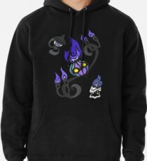 Flames of the Forgotten - Chandelure, Lampent and Litwick Pullover Hoodie