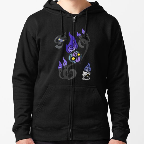 Flames of the Forgotten - Chandelure, Lampent and Litwick Zipped Hoodie