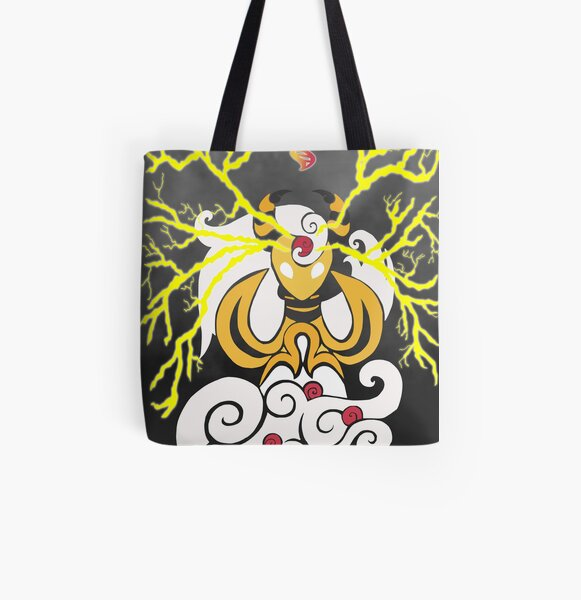 Tribalish Mega Ampharos - Eye of the Storm All Over Print Tote Bag