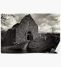 Ullard Church, near Graiguenamanagh, County Kilkenny, Ireland Poster