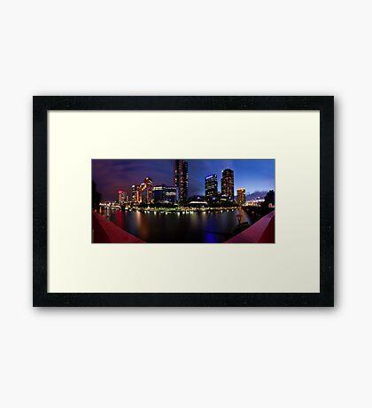 Melbourne City Southbank, Victoria, Australia - Sunset/Night  Framed Print