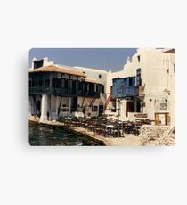 Greek taverna. Canvas Print