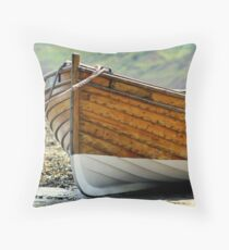 wooden fishing boat. 1 Throw Pillow