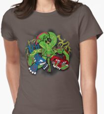 Rayquaza, Kyogre, & Groudon - Hoenn Remake Ahoy! Fitted T-Shirt