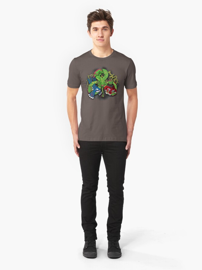 Alternate view of Rayquaza, Kyogre, & Groudon - Hoenn Remake Ahoy! Slim Fit T-Shirt
