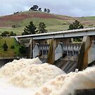 Opening The Sluice Gates - Scrivener Dam Canberra by Deirdreb