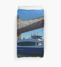 NYC Ferry - Roosevelt Island Duvet Cover