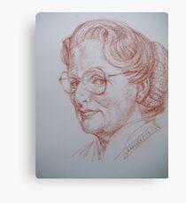 #45 Mrs Doubtfire Canvas Print