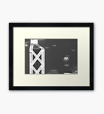 blurry economy? Framed Print