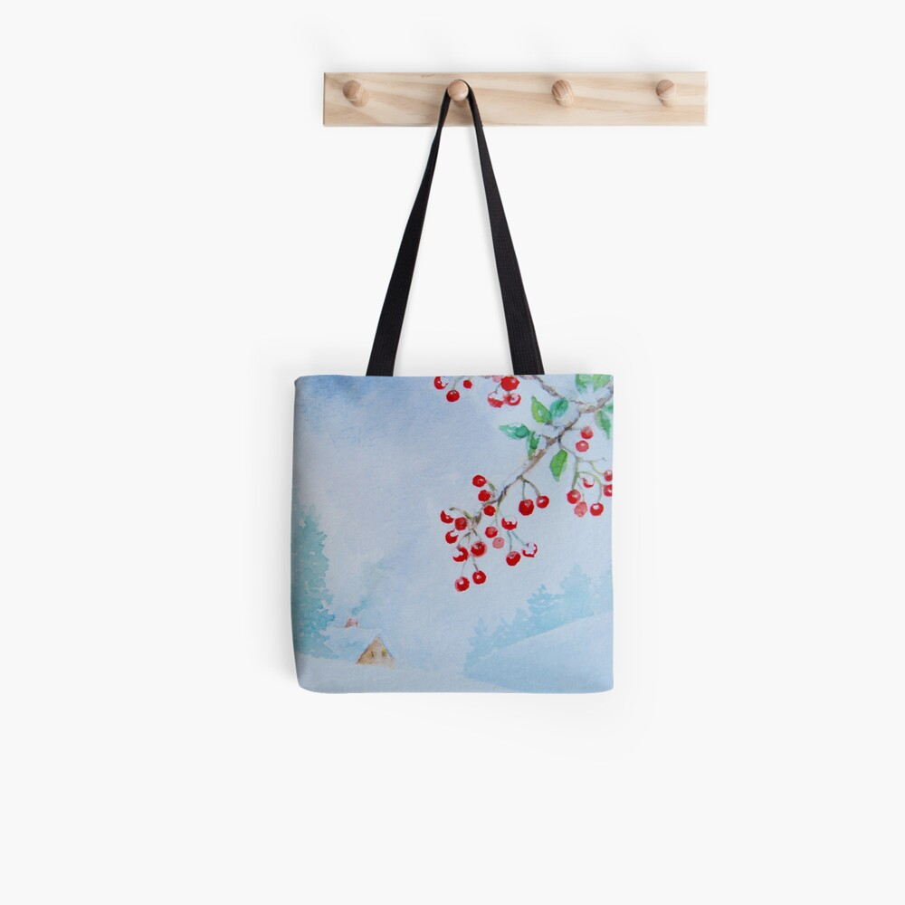 Snow on the Berries Tote Bag