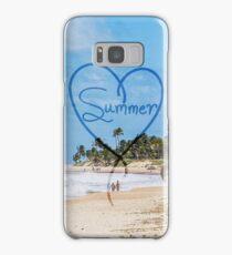 "Painted ""Summer"" Heart Typography Beach Scene  Samsung Galaxy Case/Skin"
